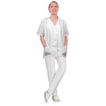 X-Pantalon Zoe Pikecoton T0  T34/36 Blanc