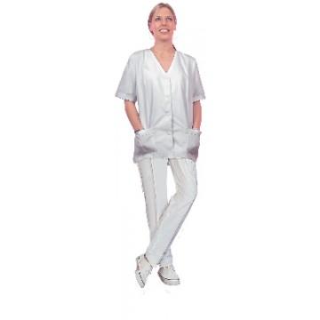 X-Pantalon Zoe Pikecoton T2  T40 Blanc
